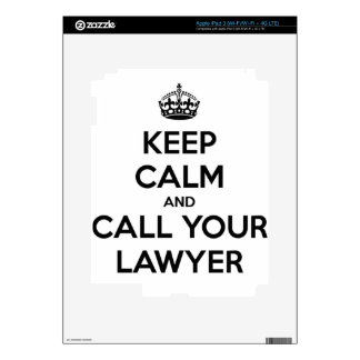 Keep Calm And Call Your Lawyer Skin For iPad 3
