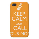 KEEP CALM AND CALL YOUR MOM COVER FOR iPhone 4
