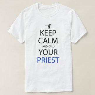 Keep Calm And Call Your Priest Anime Manga Shirt