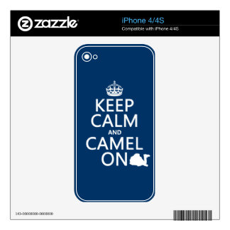 Keep Calm and Camel On (all colors) Decal For The iPhone 4S