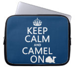 Keep Calm and Camel On (all colors) Laptop Computer Sleeve