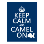 Keep Calm and Camel On (all colors) Postcard