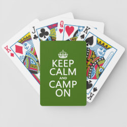 Playing Cards with Keep Calm and Camp On design