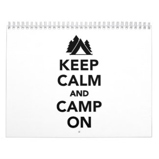 Keep calm and camp on calendar