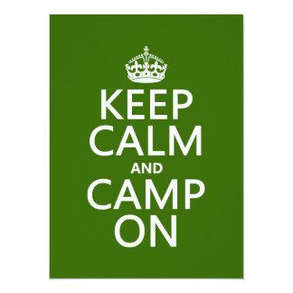 Keep Calm and Camp On Card