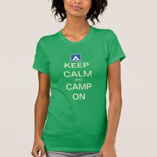 Keep Calm and Camp On Customize T-Shirt