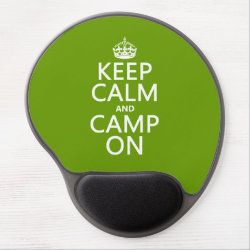 Gel Mousepad with Keep Calm and Camp On design