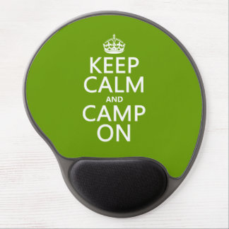 Keep Calm and Camp On Gel Mousepad