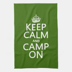 Kitchen Towel 16' x 24' with Keep Calm and Camp On design