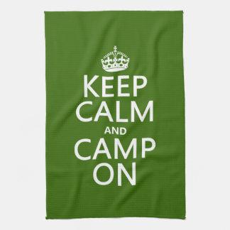 Keep Calm and Camp On Hand Towel