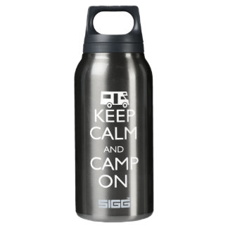 Keep Calm and Camp On Insulated Water Bottle
