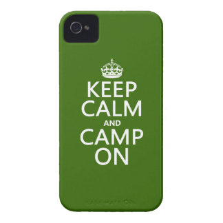 Keep Calm and Camp On iPhone 4 Case-Mate Case