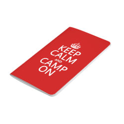 Pocket Journal with Keep Calm and Camp On design