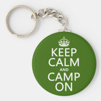 Keep Calm and Camp On Keychain