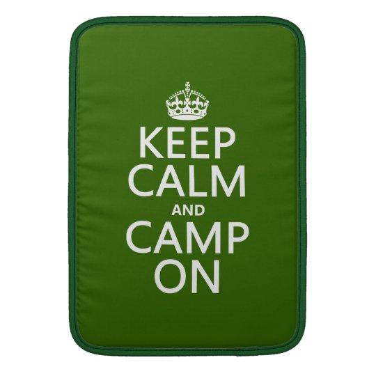 Keep Calm and Camp On MacBook Air Sleeve