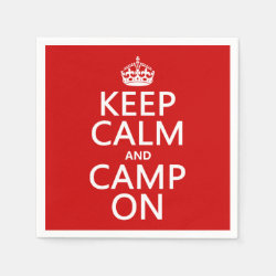 Paper Napkins with Keep Calm and Camp On design