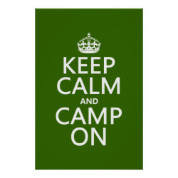 Matte Poster with Keep Calm and Camp On design