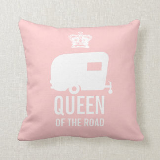 Keep Calm and Camp On - RV Queen of the Road Throw Pillow