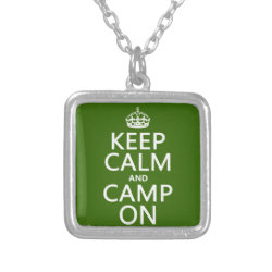 Small Necklace with Keep Calm and Camp On design