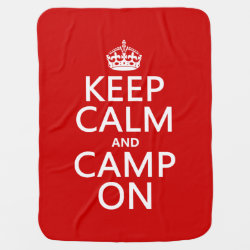 Baby Blanket with Keep Calm and Camp On design