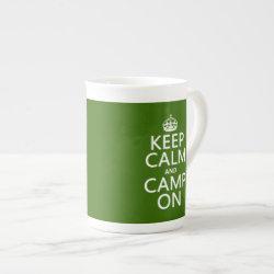 Bone China Mug with Keep Calm and Camp On design