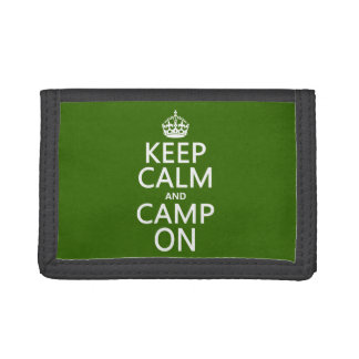 Keep Calm and Camp On Tri-fold Wallet