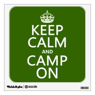 Keep Calm and Camp On Wall Skin