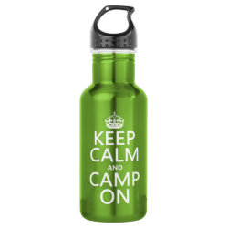Water Bottle (24 oz) with Keep Calm and Camp On design
