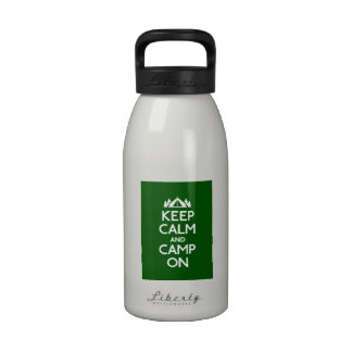 Keep Calm and Camp On Water Bottles