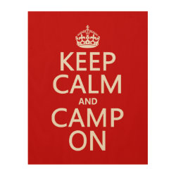 11'x14' Wood Canvas with Keep Calm and Camp On design