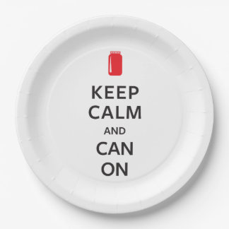 Keep Calm and Can On 9 Inch Paper Plate