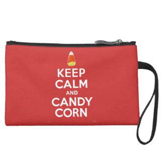 Keep Calm and Candy Corn Wristlet Purses