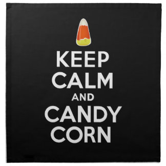 Keep Calm and Candy Corn Printed Napkin