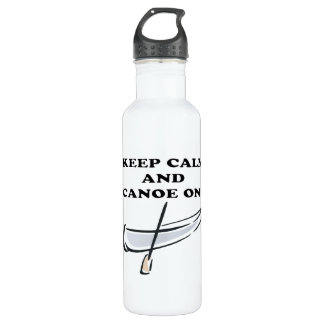 Keep Calm And Canoe On Stainless Steel Water Bottle
