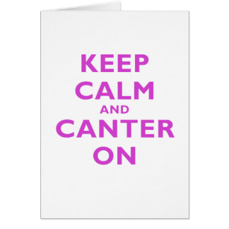 Keep Calm and Canter On Card