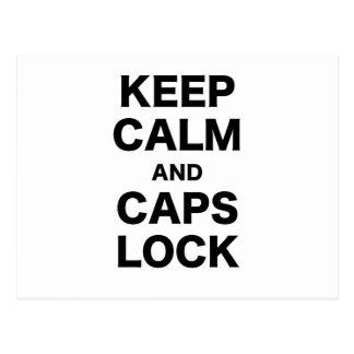 Keep Calm and Caps Lock Postcard