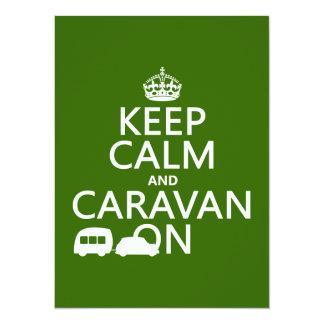 Keep Calm and Caravan On (customizable colors) Card