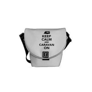 Keep calm and caravan on courier bag