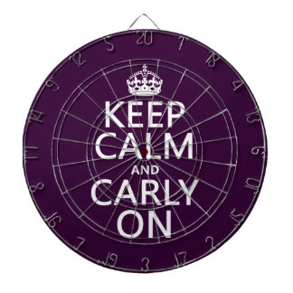 Keep Calm and Carly On (any background color) Dartboard With Darts