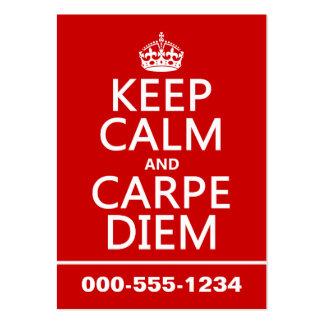 Keep Calm and Carpe Diem Business Card Templates