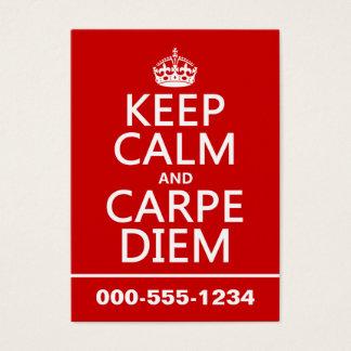 Keep Calm and Carpe Diem Business Card
