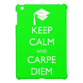 Keep Calm and Carpe Diem Graduation Cap iPad Mini Case