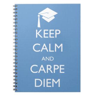 Keep Calm and Carpe Diem Graduation Cap Note Books