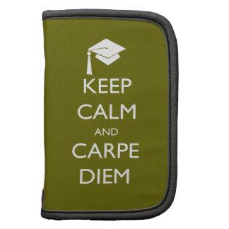 Keep Calm and Carpe Diem Graduation Cap Folio Planner