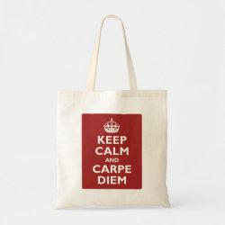 Budget Tote with Keep Calm and Carpe Diem design