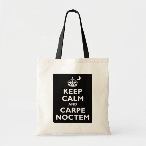 Keep Calm and Carpe Noctem Bag