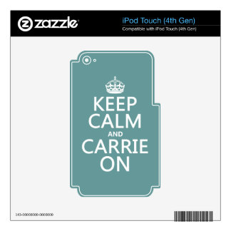 Keep Calm and Carrie On (any color) iPod Touch 4G Decal