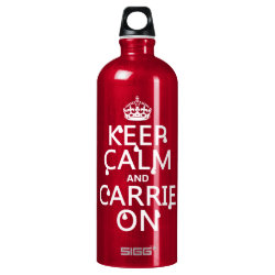 SIGG Traveller Water Bottle (0.6L) with Keep Calm and Carrie On design