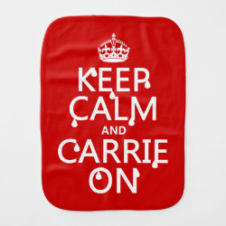 Burp Cloth with Keep Calm and Carrie On design