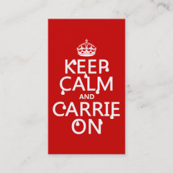 with Keep Calm and Carrie On design